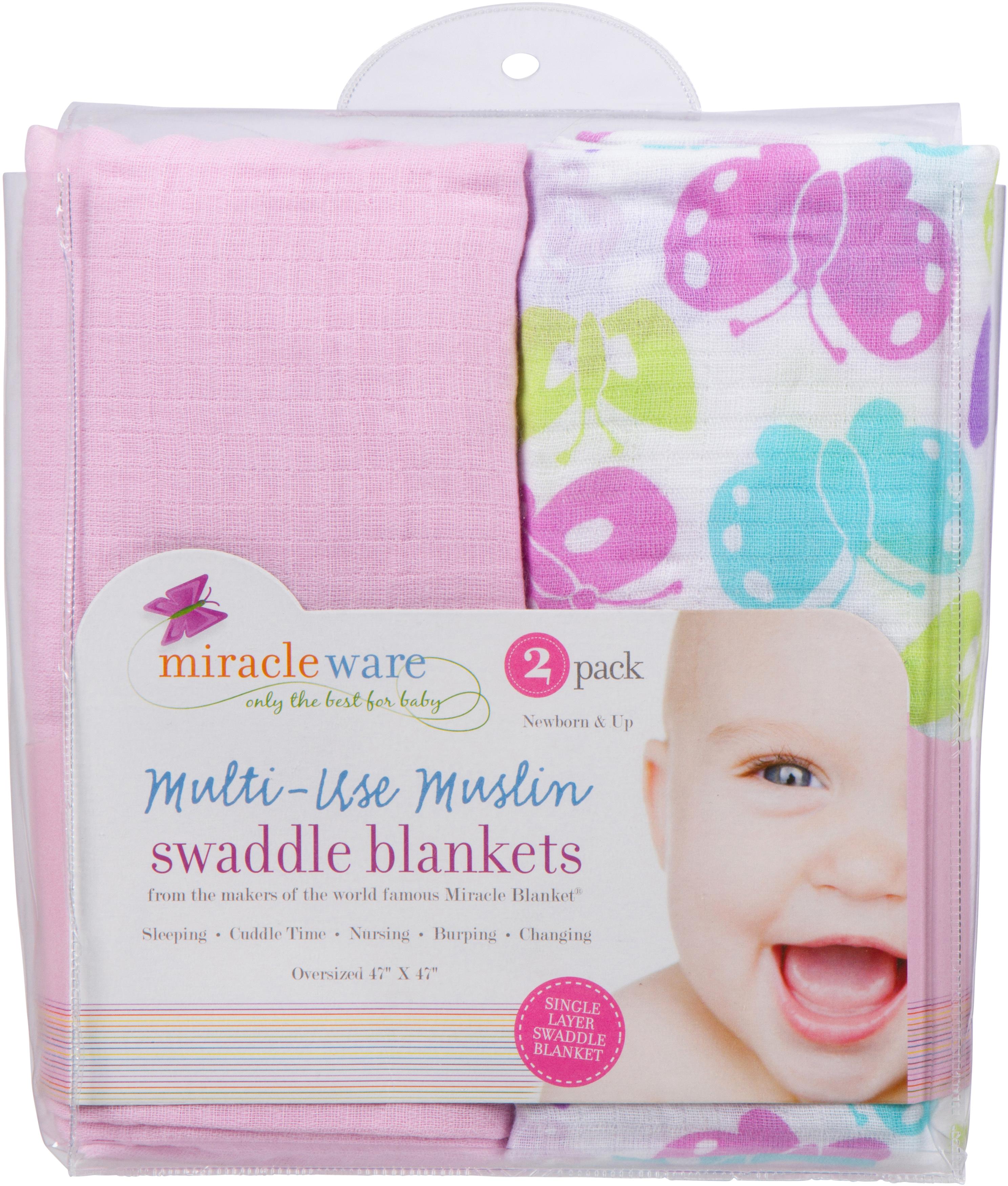 Butterflies MiracleWare Muslin Swaddle 2-Pack