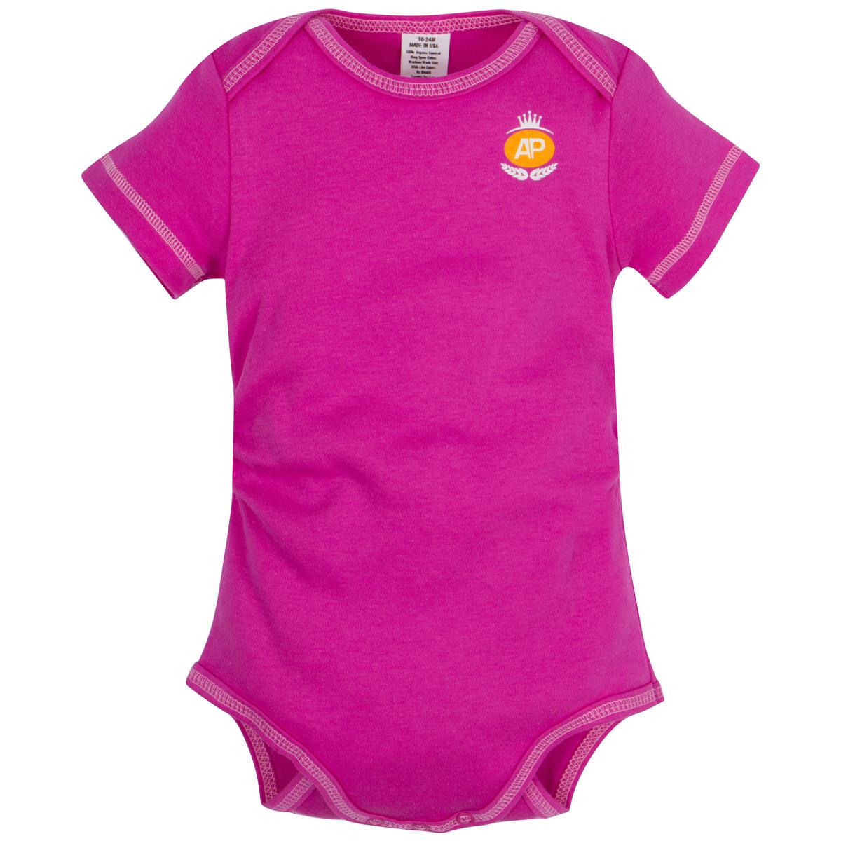Tropical Pink Organic Adjustable Bodysuit Short-Sleeve