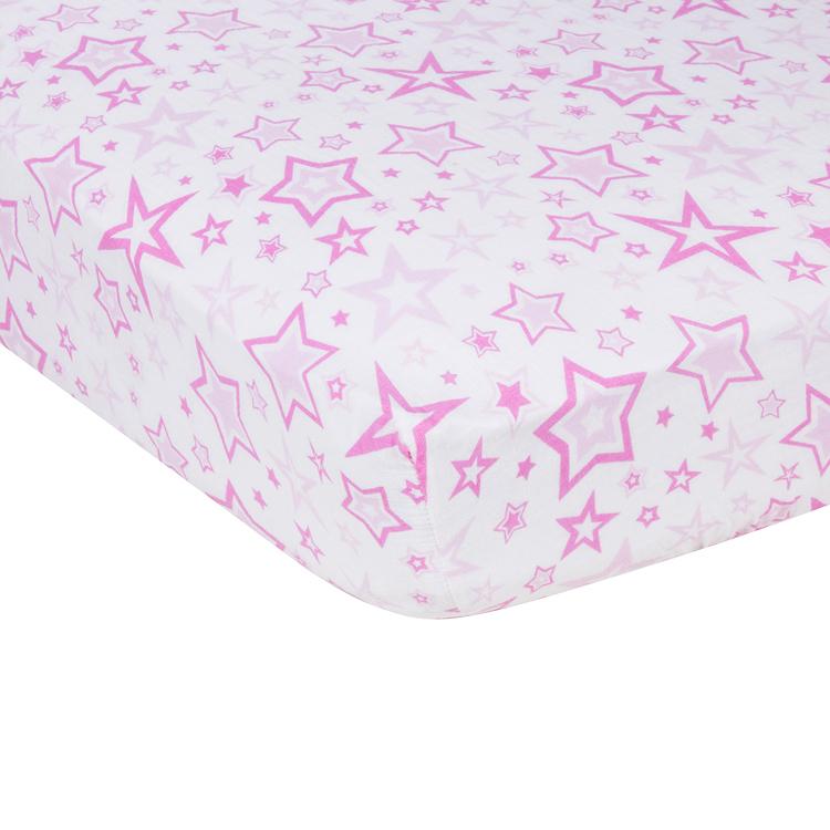 Pink Stars MiracleWare Muslin Crib Sheet