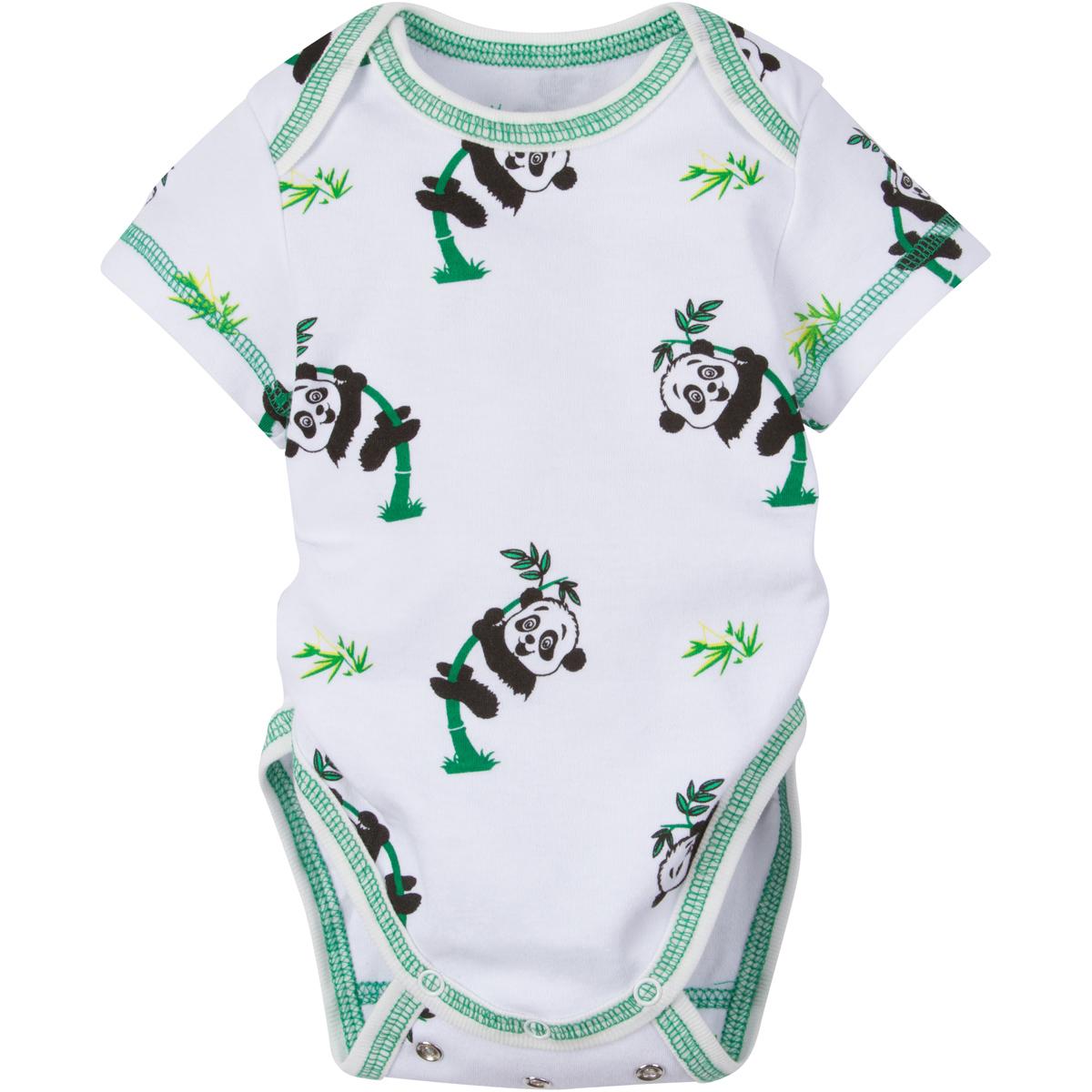 Panda Adjustable Bodysuit Short-Sleeve